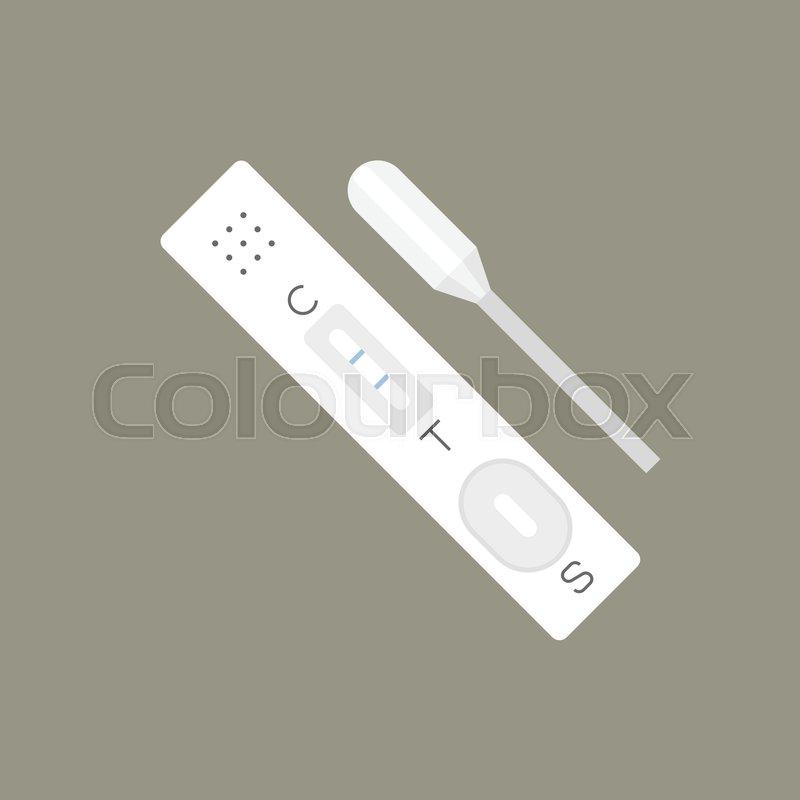 800x800 Simple Pregnancy Test, Flat Design Vector Stock Vector Colourbox