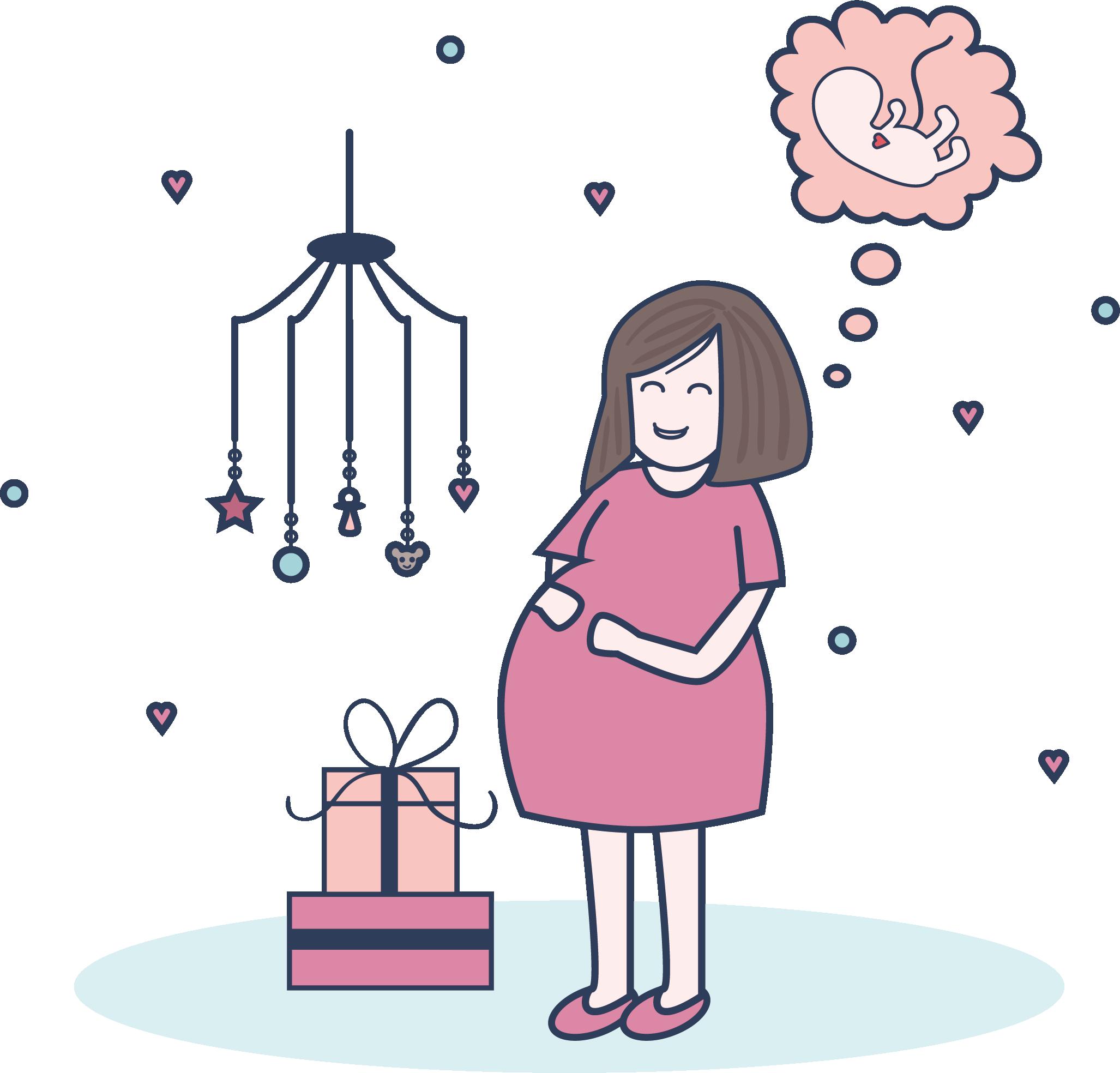 2054x1968 Pregnancy Mother Infant Illustration