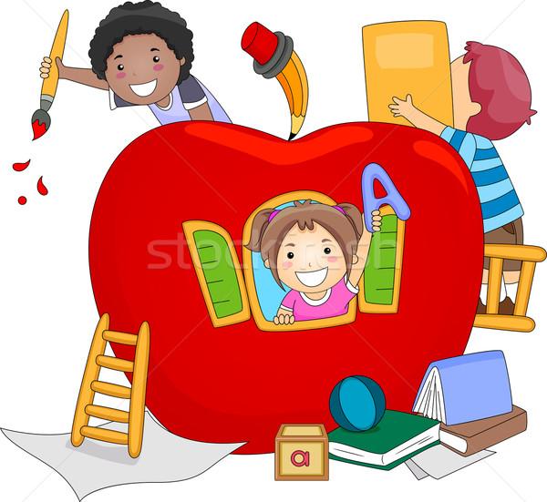 600x551 Preschool Kids Vector Illustration Lenm ( 1170195) Stockfresh