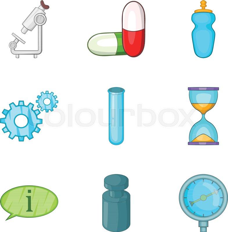 785x800 Medical Prescription Icons Set. Cartoon Set Of 9 Medical