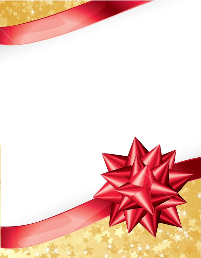 779x1000 Present Ribbon Bow. Vector. Royalty Free Stock Image