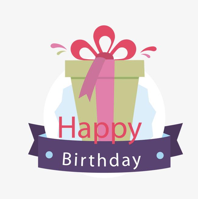 650x651 A Birthday Present, Birthday Vector, Present Vector, Birthday