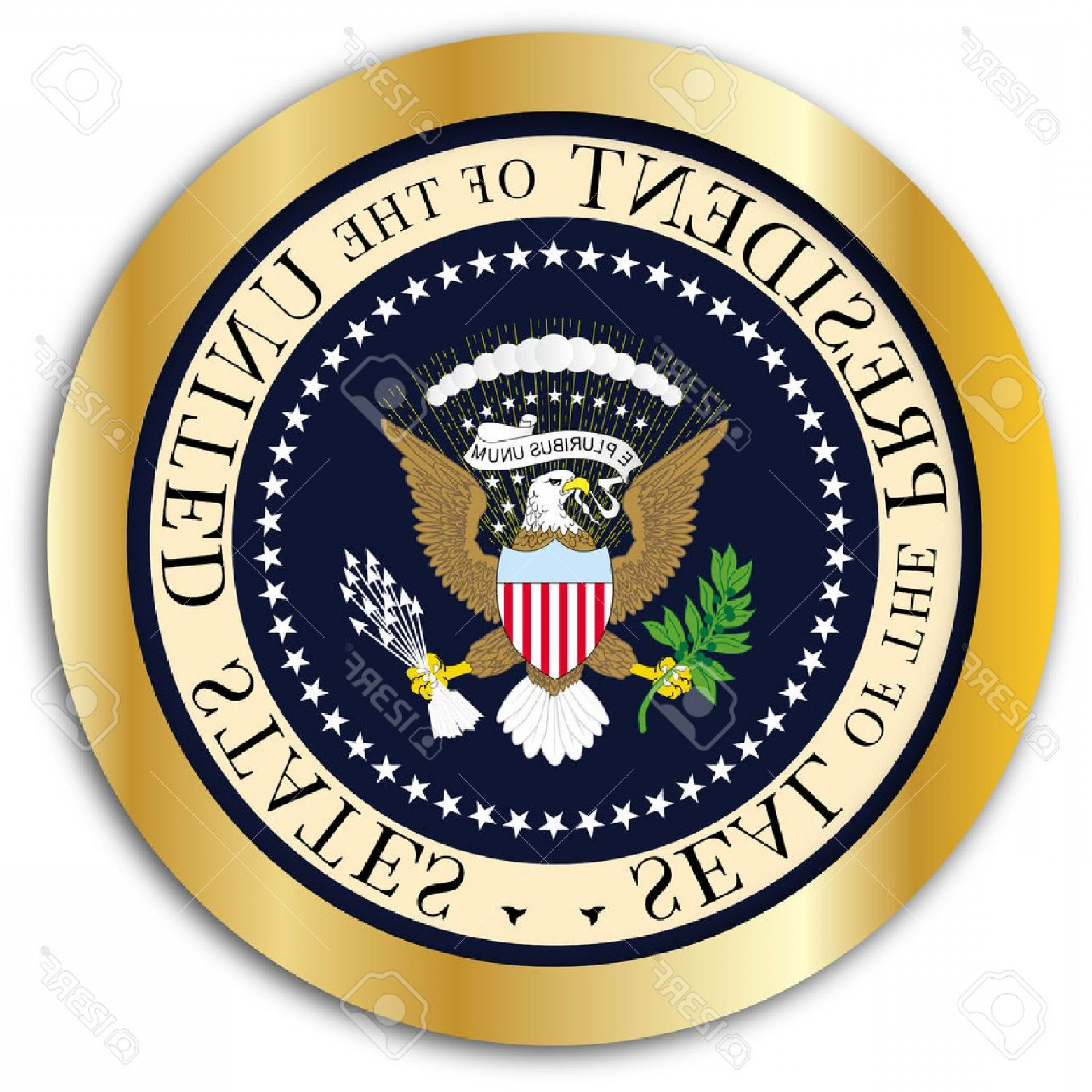1560x1560 Photostock Vector A Depiction Of The Seal Of The President Of The
