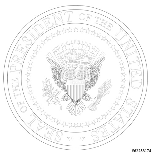 499x500 President Seal Outline Stock Image And Royalty Free Vector Files