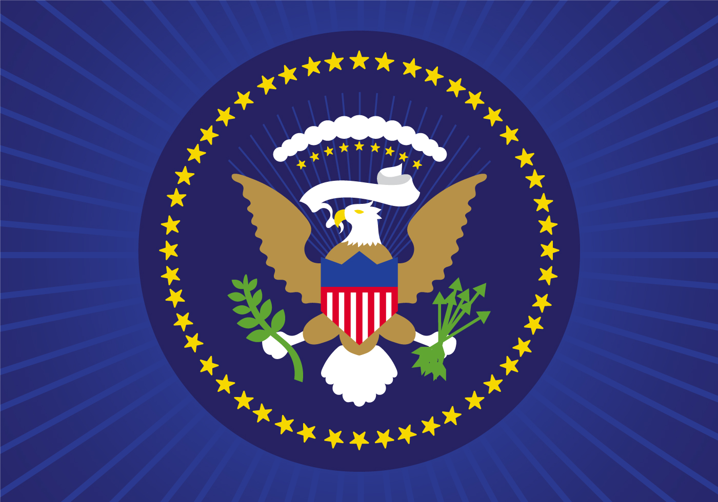 1400x980 Presidential Seal Free Vector Art