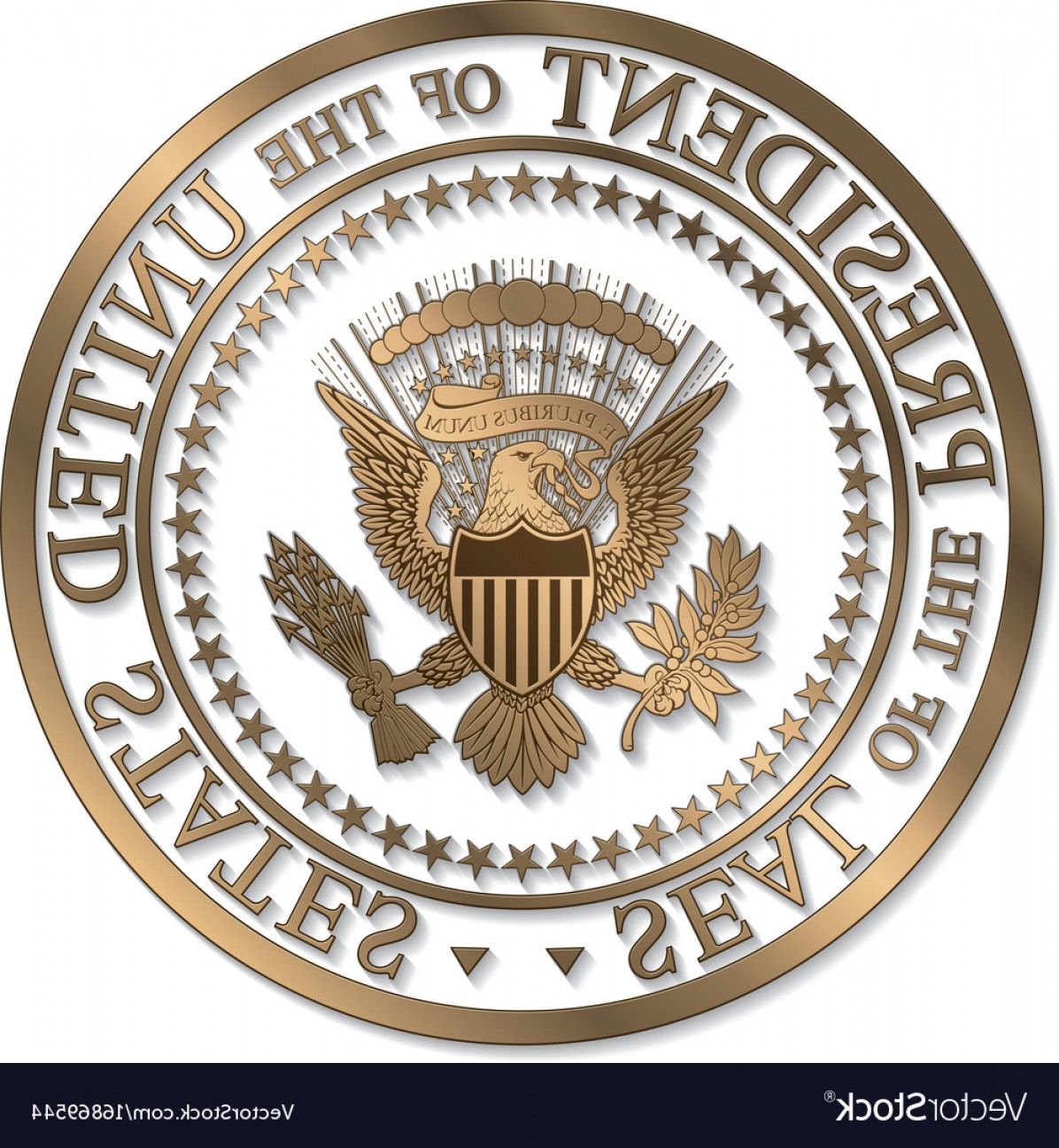 1196x1296 Presidential Seal Gold Against White Ai Vector Geekchicpro