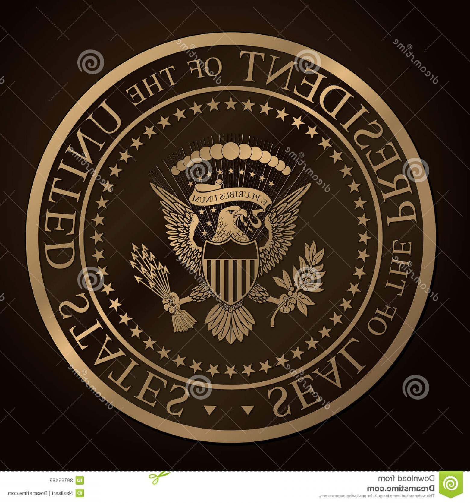 1560x1668 Stock Photos Us Golden Presidential Seal Emboss Highly Detailed