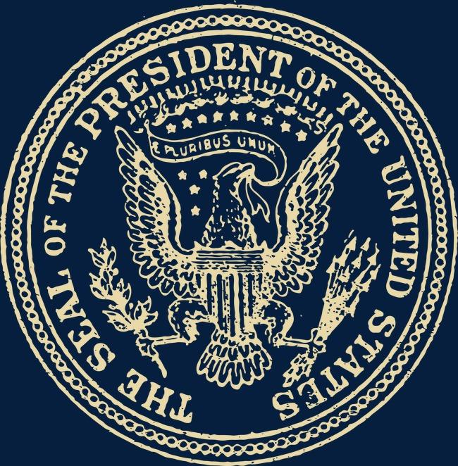 650x662 Vector Illustration Vintage Presidential Seal, Vintage Vector