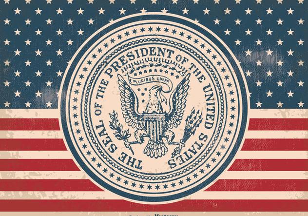 632x443 Vintage Presidential Seal Illustration Free Vector Download 385641