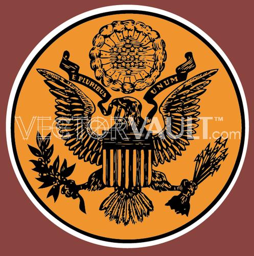 497x500 Buy Vector Us Presidential Seal Icon Logo Graphic Royalty Free Vectors