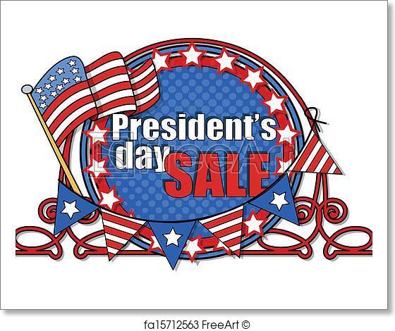 560x470 Free Art Print Of Presidents Day Vector Frame. Big Usa Patriotic