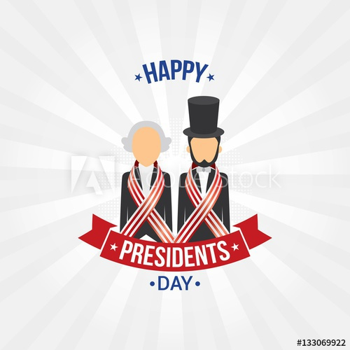 500x500 Happy Presidents Day Vector Illustration. Suitable For Greeting