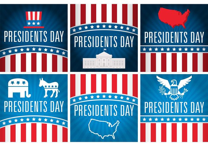 700x490 Presidents Day Vector Cards
