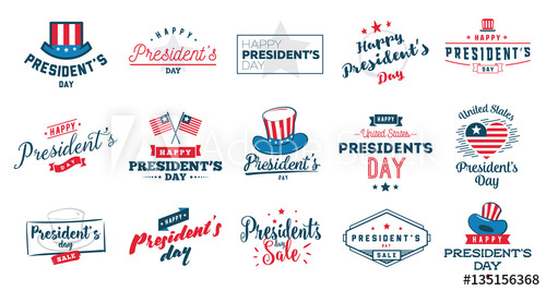 500x267 Presidents Day Vector Typography.