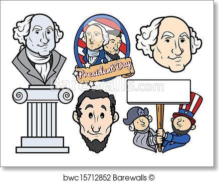 437x364 Art Print Of Presidents Day Characters Vectors Barewalls Posters