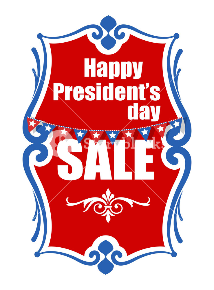 739x1000 Sale On Presidents Day Vector Banner Illustration Royalty Free