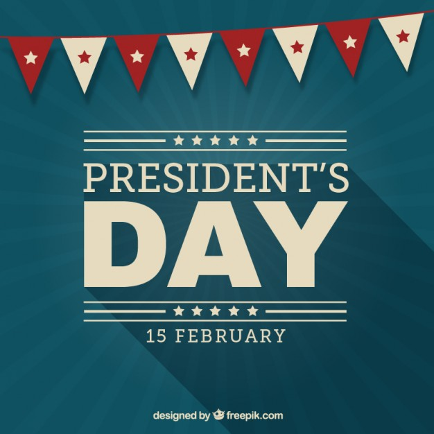626x626 Vintage Presidents Day Background With A Garland Vector Free