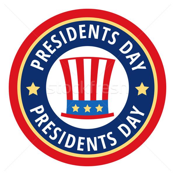 600x600 Badge Greetings For Presidents Day Vector Illustration Maksym