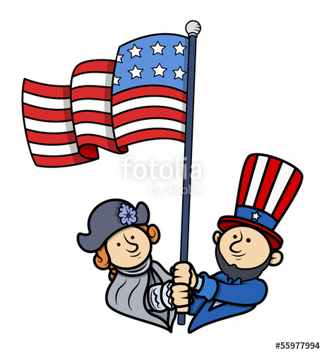 459x500 Floating American Flag
