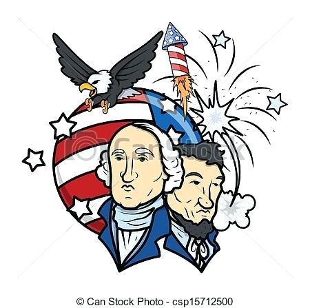 450x447 Free Clip Art Presidents Day Presidents Day Vector Illustration