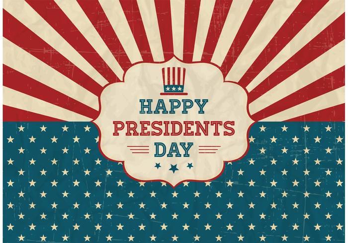 700x490 Free Happy Presidents Day Retro Vector Poster