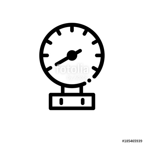 500x500 Pressure Gauge Vector Icon Stock Image And Royalty Free Vector