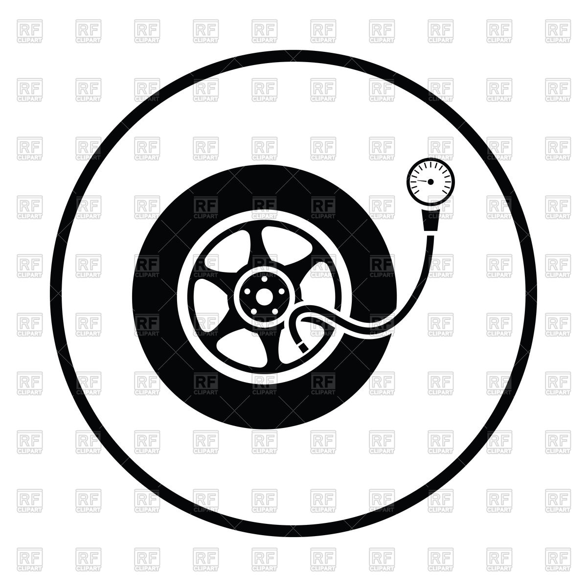 1200x1200 Tire Pressure Gage Icon Vector Image Vector Artwork Of Objects