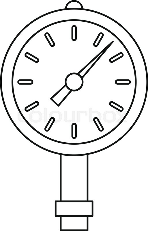 513x800 Manometer Or Pressure Gauge Icon In Outline Style Isolated Vector