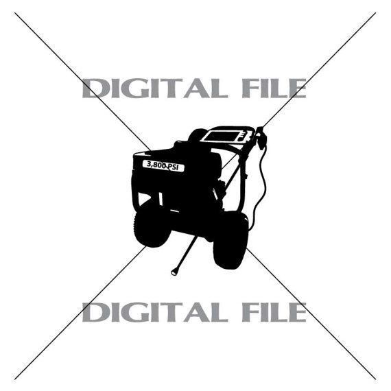 570x570 Gas Pressure Washer Vector Clipart Vinyl Decal T Shirt Digital
