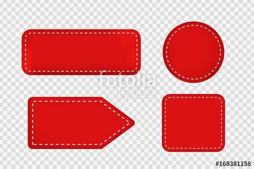 500x334 Vector Set Of Realistic Isolated Red Price Tag Coupons For
