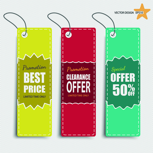 500x500 Colored Discount Price Tag Vector Graphics Free Vector In