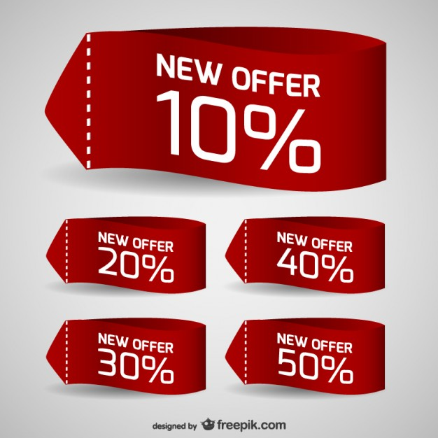 626x626 Discount Sale Tags Vector Free Download