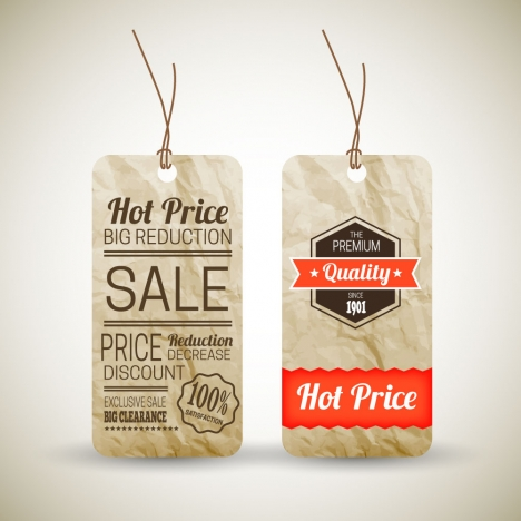 468x468 Old Paper Price Tag Vectors Stock In Format For Free Download 5.68mb
