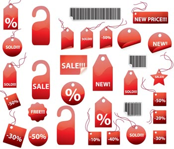 350x299 Price Tag Vector Pack