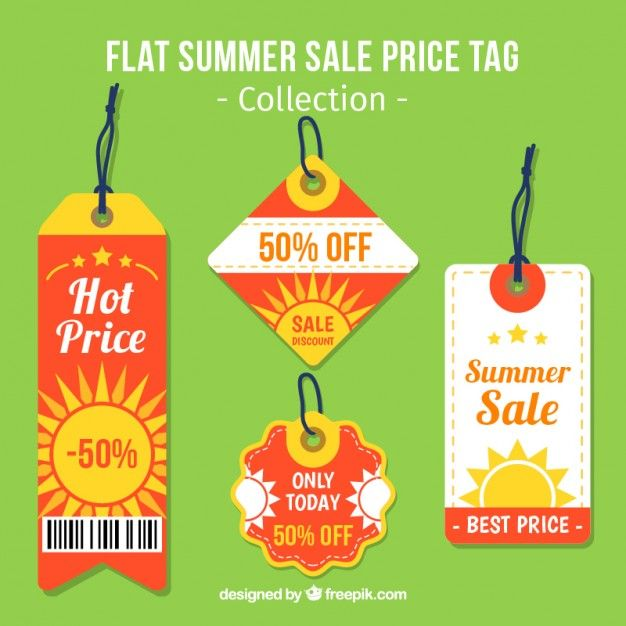 626x626 Summer Sale Price Tags Free Vector My Freepik