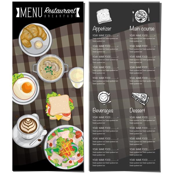 600x600 Restawrant Breakfast Menu With Price List Vector Design 07