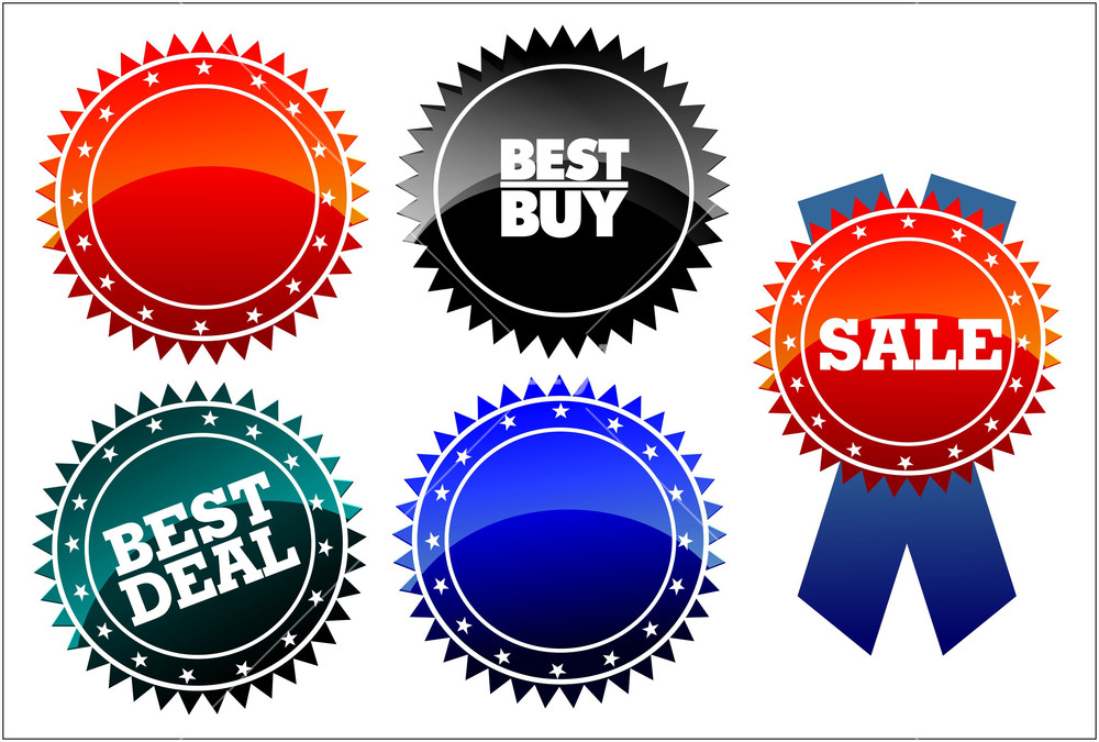 1000x675 Vector Price Tags Royalty Free Stock Image