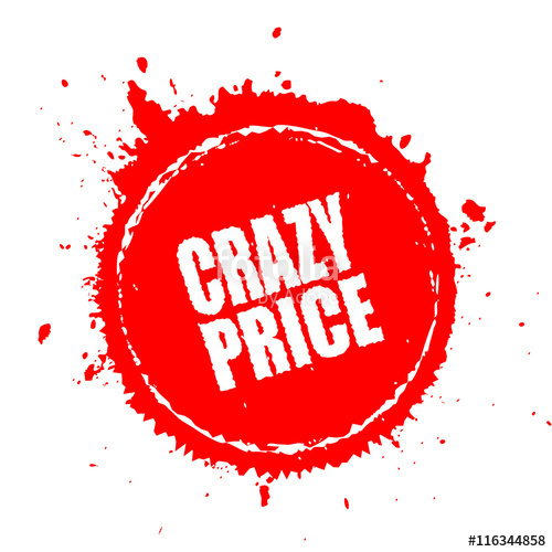 500x500 Crazy Price Splash Icon Stock Image And Royalty Free Vector Files