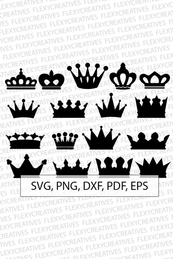 570x855 Crown Svg Queen Crown Vector Clipart Cut File Princess Etsy