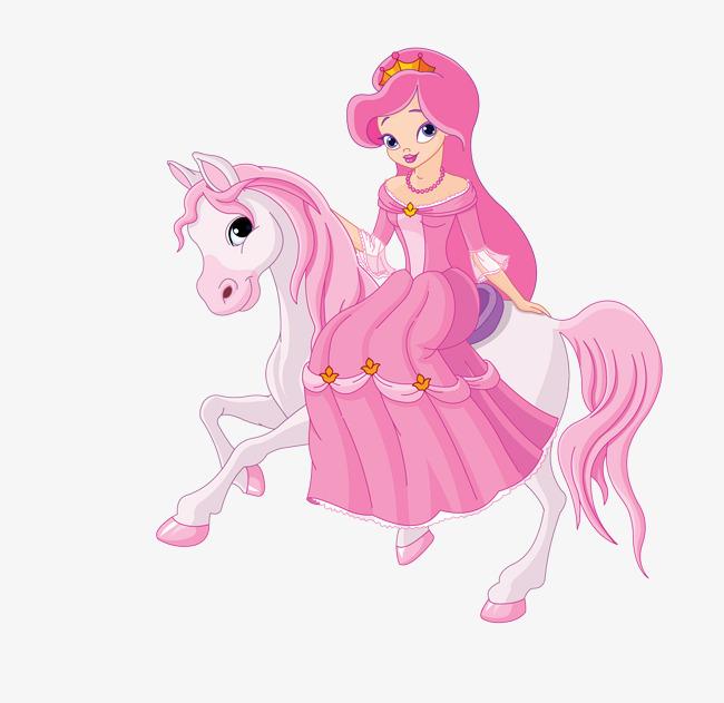 650x631 Vector Pink Cartoon Horse Princess, Vector Princess, Pink Princess