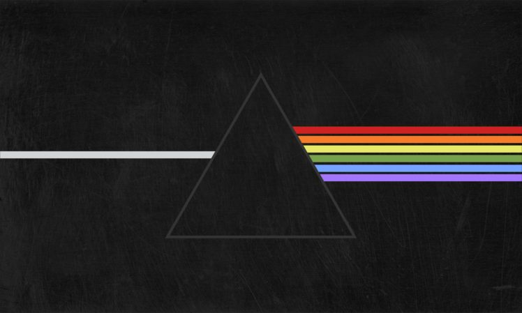 748x449 Pink Floyd, Triangle, Prism, The Dark Side Of The Moon, Black