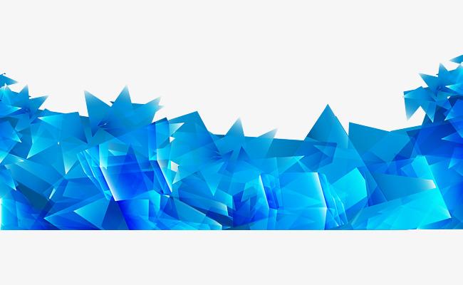 650x400 Abstract Blue Irregular Prism Background Vector, Blue, Irregular