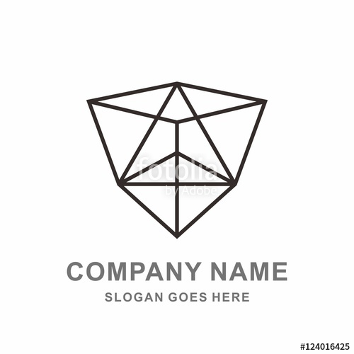 500x500 Triangle Prism Box Outline Architecture Business Company Vector