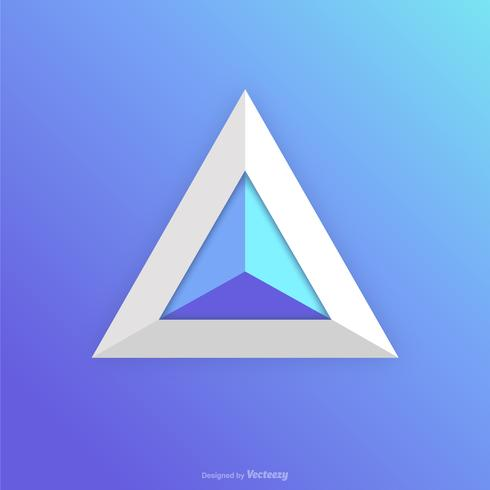490x490 Abstract Prism Icon Logo Vector Design