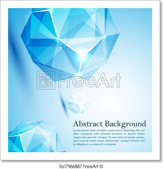 561x581 Free Art Print Of Cristal Prism. Vector Illustration For Your