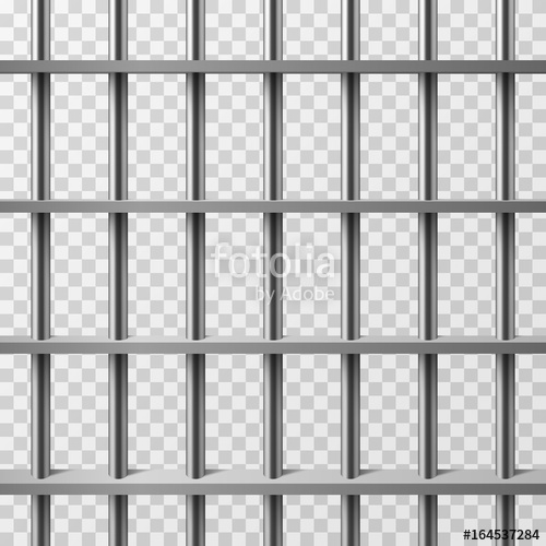 500x500 Jail Cell Bars Isolated. Prison Vector Background Stock Image And
