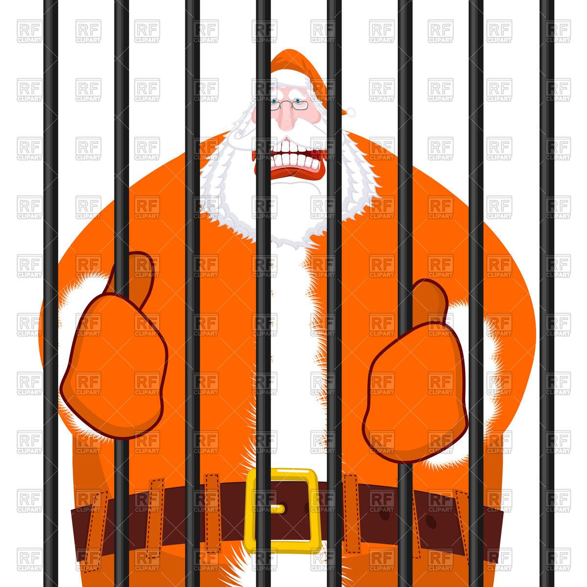 1200x1200 Santa Claus In Orange Prisoner Clothing, Bad Santa In Prison