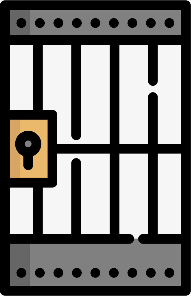 650x1005 Cartoon Prison Iron Gate Icon, Prison Gate, Prison Labor, Cartoon