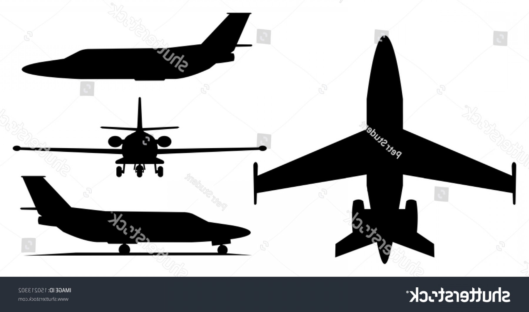 1800x1062 Illustration Private Jet Airplane Silhouette Arenawp