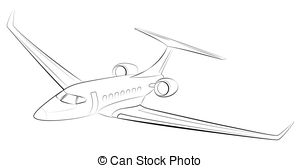 300x168 Stylized Vector Illustration On A Theme Of Private Aviation